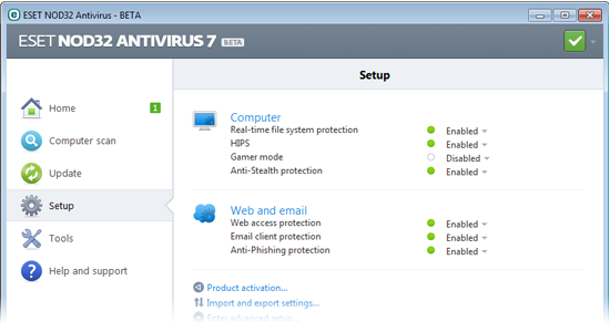 ESET NOD32 Antivirus 7 Beta