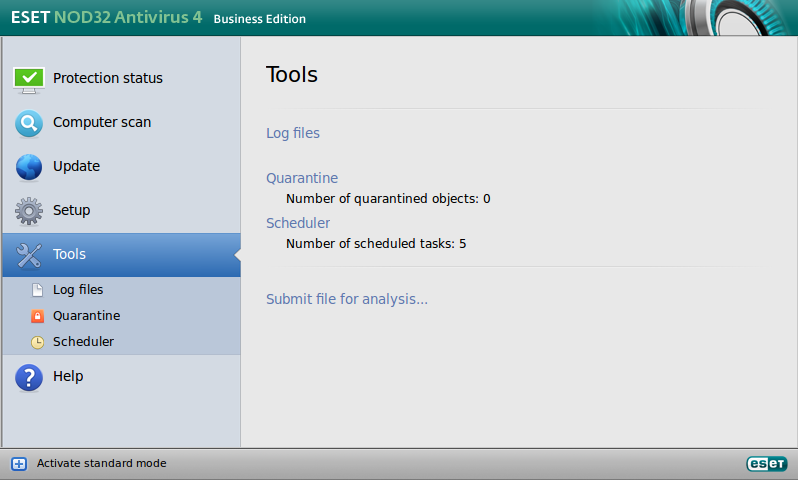 ESET NOD32 Antivirus Business Edition for Linux Desktop - Tools