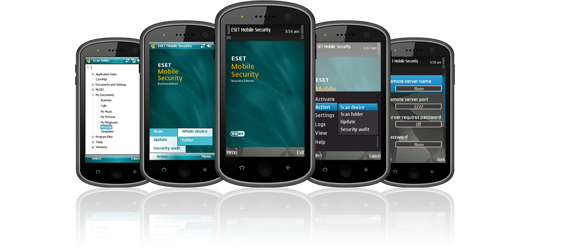Screenshot Gallery for ESET Mobile Security Business Edition