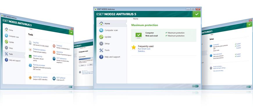 Screenshot Gallery for ESET NOD32 Antivirus 5